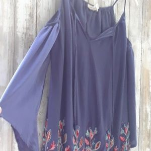 Water lily open shoulder dress